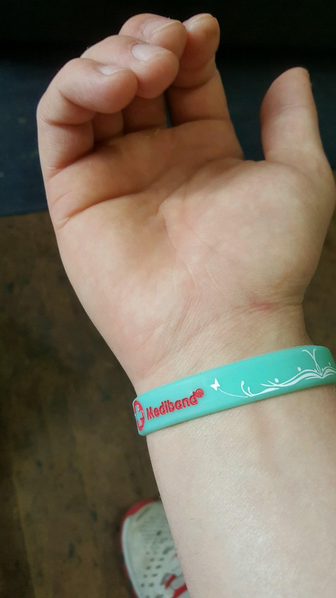 Mediband Asthma Medical Id Bracelet